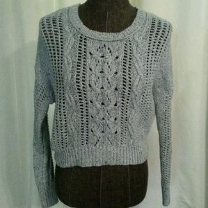 Decree Sz S Gray Cropped Sweater Womens